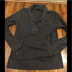 Banana Republic Collared Grey Sweatshirt (M)